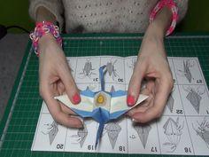 ASMR en español - Origami, grulla con la bandera de Argentina y Japón.  ...