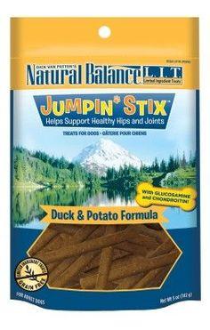 Natural Balance LIT Jumpin' Stix Duck Dog Treats 5 oz