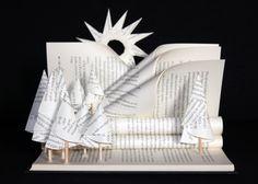 """Altered book: """"A paper forest""""... Libro-escultura """"El bosque de la Lectura"""".. Livre détourné """"une forêt en papier""""..."""