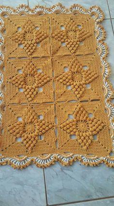 Crochet Bedspread Pattern, Diy Crochet Patterns, Crochet Motif, Crochet Yarn, Crochet Projects, Puff Stitch Crochet, Crochet Stitches, Crochet Dollies, Crochet Squares