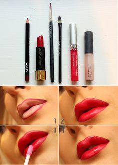 Makeup : DIY Lipstick MakeUp Makeup tips and ideas Beauty Make Up, Diy Beauty, Beauty Hacks, Beauty Tips, Diy Makeup, Makeup Tips, Makeup Ideas, Perfect Red Lips, Perfect Lipstick