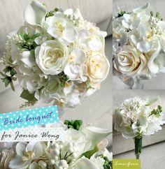White calla bride bouquet