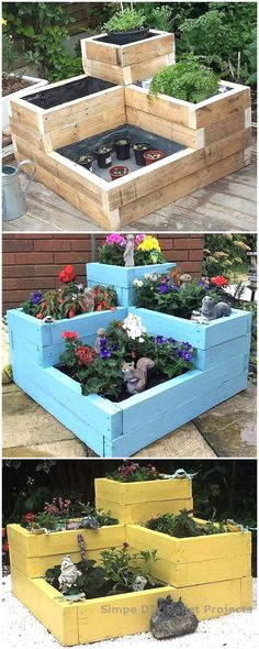 Creative Ideas with Wooden Pallets at Home repurposed wooden pallet planters The post Creative Ideas with Wooden Pallets at Home appeared first on Pallet ideas. Wooden Pallet Projects, Wooden Pallet Furniture, Wooden Pallets, Diy Furniture, Plastic Pallets, Pallet Wood, Pallet Patio, Repurposed Furniture, Furniture Stores