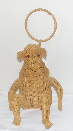 Vintage Wicker Monkey Purse Bought in Florida Late 1950's