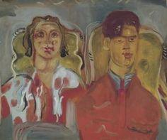 Frances Hodgkins' Double Portrait No. Watercolor Art, France, Portrait, Painting, Image, Collection, Art, Watercolor Painting, Headshot Photography