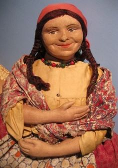 "Very Big ""Gypsy"" Stockinet Cloth 30's Tea Cozy Cosy Russia Russian Soviet Union"
