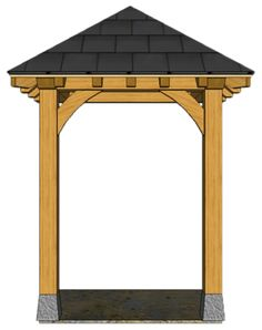 2 POST PORCHES — TIMBER FRAME PORCHES Awning Over Door, Front Door Canopy, Porch Awning, Porch Roof, Door Overhang, House Front Porch, Front Porch Design, Front Deck, Outdoor Awnings