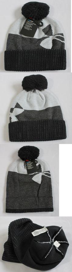 timeless design 86399 80c97 Hats 57884  Under Armour Boys One Size Pom Pom Beanie Winter Hat Cuffed  Black (