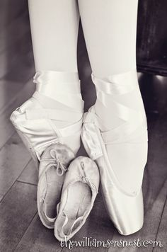 First ballet shoes and first pointe shoes