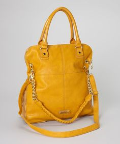 Take a look at this Mustard Maxxy Tote by Steve Madden on #zulily today!