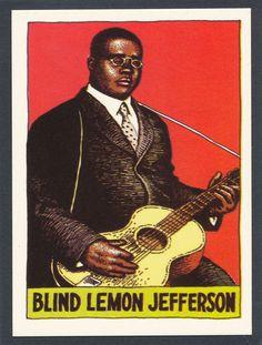 Blind Lemon Jefferson 1980 Heroes of the Blues card #9