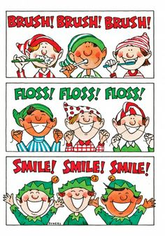 Dental Christmas Card - I may be sending these out next year! #holidaycards #dentalcards #brush #floss #smile #greetings #dentist #atherton