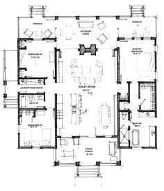 modern dog trot floor plans houses - Plans For Houses