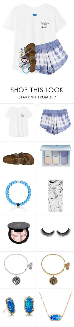 """ravenclaw pride day!"" by lindsaygreys ❤ liked on Polyvore featuring MANGO, Birkenstock, Anastasia Beverly Hills, Casetify, Alex and Ani and Kendra Scott"
