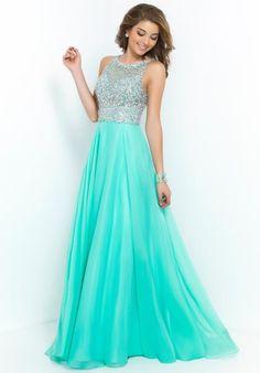 Blush High Neckline Dress 9947