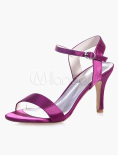 Elegant Ankle Strap Round Toe Evening And Bridal Sandals