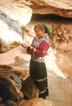 Navajo girl, turquoise, silver, New Mexico