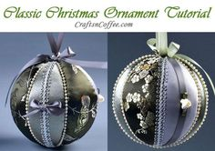 Tinsel Tuesdays: Satin & Brocade Tucked Fabric Ornaments