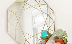 Dress up your walls with this DIY mirror.