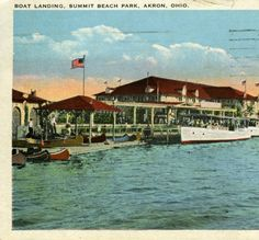 Boat Landing, Summit Beach Park, Akron, Ohio :: General Photograph Collection of the Akron-Summit County Public Library