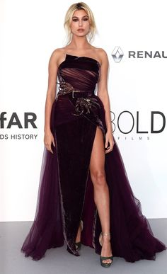 Best Dressed Stars on Cannes Red Carpet 2017 - Hailey Baldwin in Elie Saab