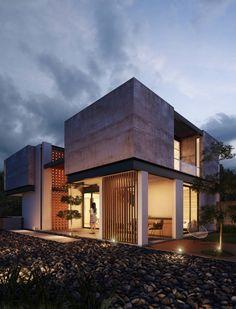 Busca imágenes de diseños de Casas estilo minimalista}: Fachada Posterior. Encuentra las mejores fotos para inspirarte y y crear el hogar de tus sueños.