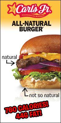 carls jr nutrition
