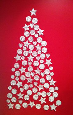 My doily Christmas tree complete :)