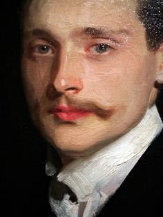 Detail - Portrait of  Léon Delafosse by John Singer Sargent. (Seattle Art Museum )