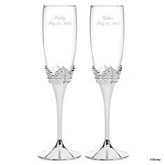 happily ever after toasting flutes | wedding glasses | Disney Weddings at Invitations By Dawn