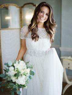 Marchesa wedding dress. Fine art wedding photography by Polly Alexandre.