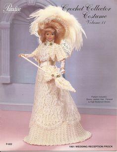 78. Barbie fashion doll dress-crochet pattern in pdf by Vandihand