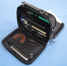 Compact Carrier for Travel Art Supplies. Kutsuwa Dr. Ion Super Mega Pencil Case $23.20