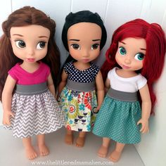 Chevron Doll Skirt and Top shown on Disney от TheLittleRedMamaHen