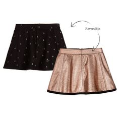 IKKS Gold & Black Reversible Skirt at Childrensalon.com