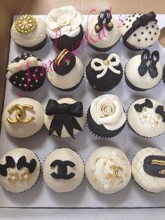Chanel inspired cupcakes - by Jemlewkascupcakes1 @ CakesDecor.com - cake decorating website