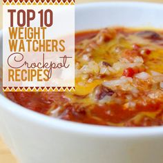 Top 10 Weight Watchers Crockpot Recipes combine the yummy good-for-you dishes you are looking for with the convenience of the slow cooker! #slowcooker #crockpot #cleaneating