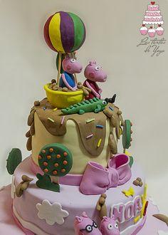 Tarta fondant Peppa Pig para el cumpleaños-Bautizo de Noa