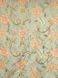 Product ID:  FbC 3546303 Manufacturer:  Fabricut Fabrics Available Colors:  Width:  52 in Content:  100% Silk 100% Rayon Embroidery Horizontal Repeat:  25.5 in Vertical Repeat:  15.7 in Usage:  Bedding, Drapery