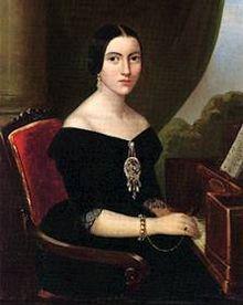 Ritratto di Giuseppina Strepponi 1835-oggi conservato al Museo Teatrale alla Scala di Milano- soprano- seconda moglie di Giuseppe Verdi