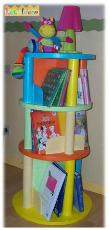 Etagere a cannelures ronde
