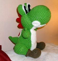 crochet nintendo characters | Yoshi Amigurumi Plushie Doll - Nintendo Crochet Collectible - Green ...