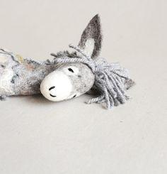 Serafim Felt Donkey. Art Toy. Felted Toys. by TwoSadDonkeys