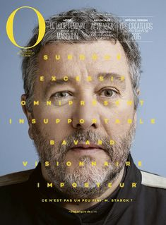 O y Philippe Starck - El Portadista Foto Magazine, Mise En Page Magazine, Graphic Design Posters, Graphic Design Typography, Graphic Design Inspiration, Magazine Design, Book Design, Design Art, Layout Design