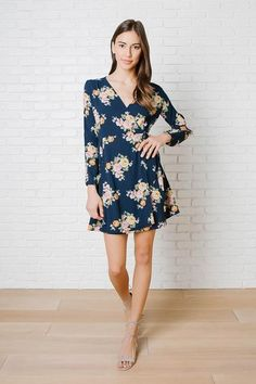 April Floral Wrap Dress