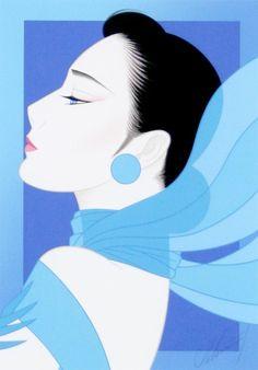 🔆🔆🔆by: Ichiro Tsurato🔆🔆🔆 Japanese visual artist, was born in 1954 in the city of Hondo in Kumamoto Prefecture, Ichiro Tsuruta grew up in Kyushu's Amakusa Region, Japan. Japanese Illustration, Cute Illustration, Korean Painting, Vaporwave Art, Kumamoto, Art Japonais, Korean Art, Graphic Design Print, Amazing Drawings