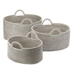[BAOLGI] OVAL BASKET WITH HANDLES WHITE L @38880 by  THE CONRAN SHOP