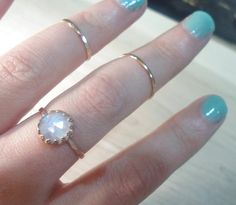 Rainbow Moonstone Ring Moonstone ring Rose gold by AWildViolet Moonstone Jewelry, Diamond Jewelry, Gemstone Rings, Rainbow Moonstone Ring, Statement Rings, Fashion Necklace, Jewelry Design, Silver Rings, Rose Gold