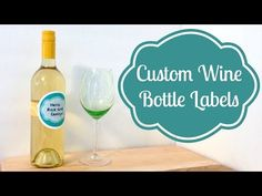 DIY Custom Wine Bottle Labels - and they are waterproof!  #PartyCraftHOA