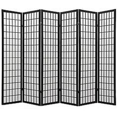 Oriental Shoji 6-panel Black Room Divider Screen | Overstock.com Shopping - Great Deals on Decorative Screens